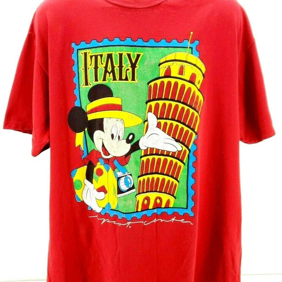 made in USA unisex vintage Disneyland tee Mickey Mouse cotton Disney Character Fashions